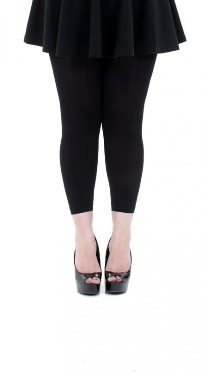 120 Denier Footless Tights (Black)