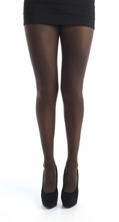 120 Denier 3D Opaque Tights (Chocolate)