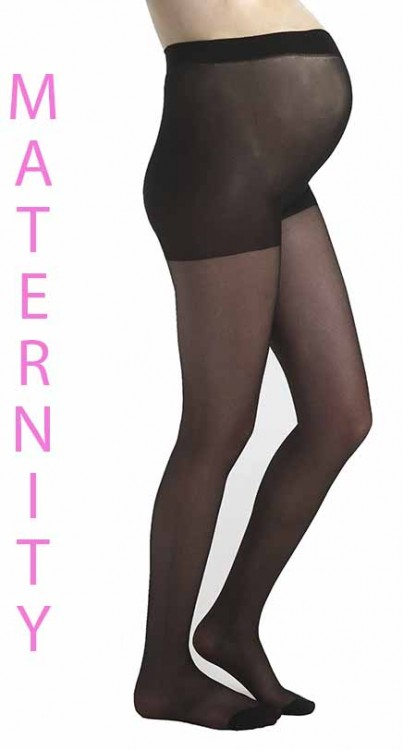 Maternity 15 Denier Tights (Black)