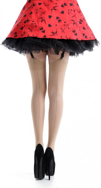40 Denier Seamed Stockings (Nude)