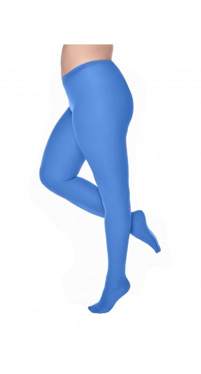 50 Denier Curvy Super Stretch Tights Cobalt Blue