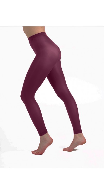 50 Denier Footless Tights (Damson)