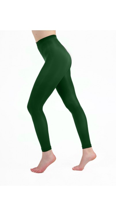 50 Denier Footless Tights (Forest Green)