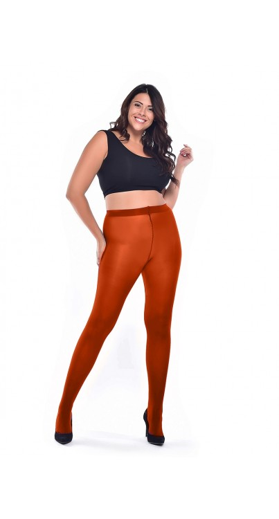 50 Denier Curvy Super-stretch Tights (Rust)