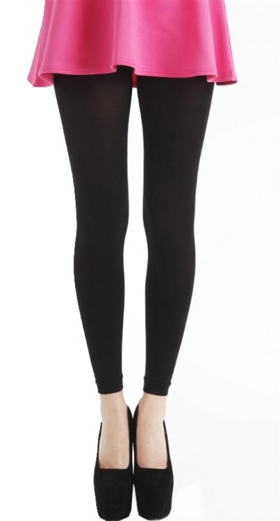 80 Denier Footless Tights (Black)