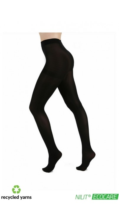 50 Denier Recycled Yarn Tights (Black)