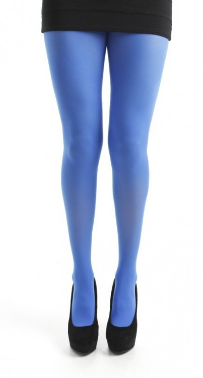 80 Denier Opaque Tights (Flo Blue)