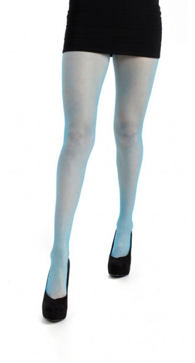 Fishnet Tights (Flo Turquoise)