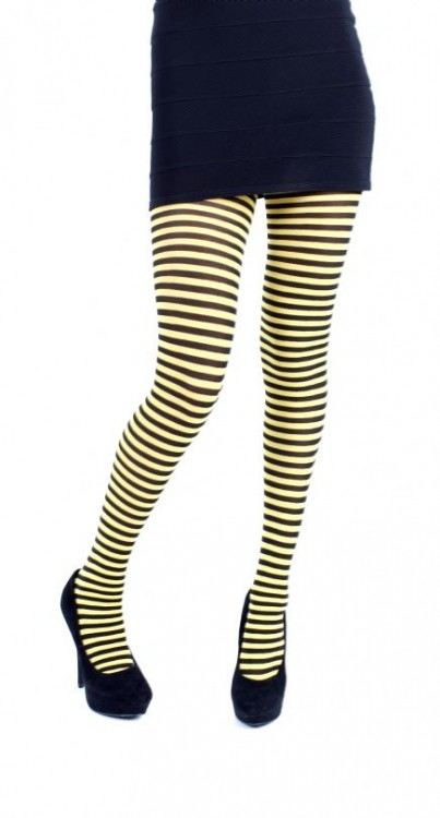 Carousel Tights (Black/Yellow)