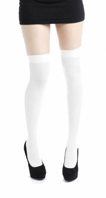 White Overknee Socks