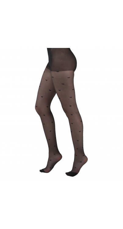 All Over Hearts Sheer Tights