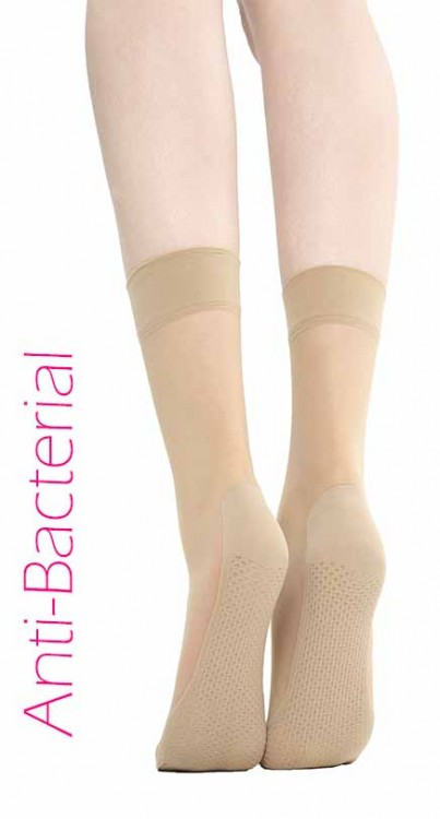 Anti Bacterial Massager Ankle Socks (Nude)