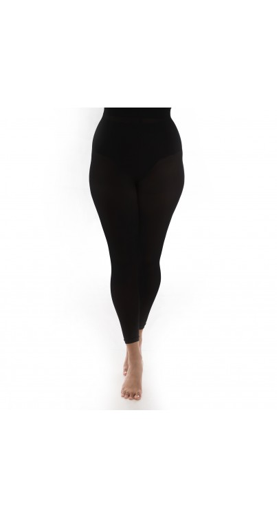 90 Denier Curvy Super Stretch Recycled Yarn Footless (Black)