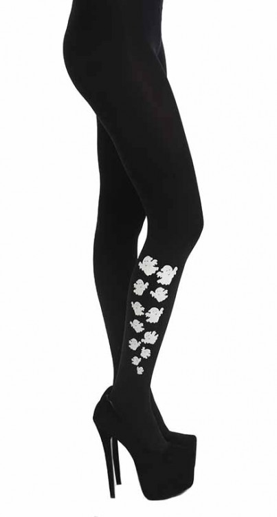 Escaping Ghosts Tights (Black)