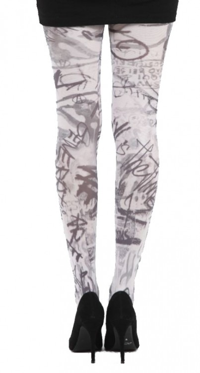 Evolution Printed Tights (White)