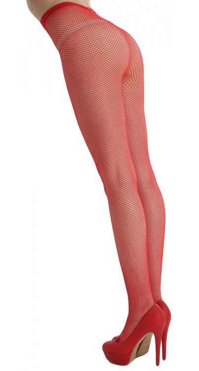 Fishnet Tights Flo Red