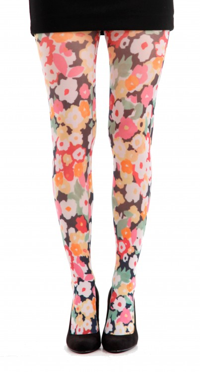 Flower Power Printed Tights