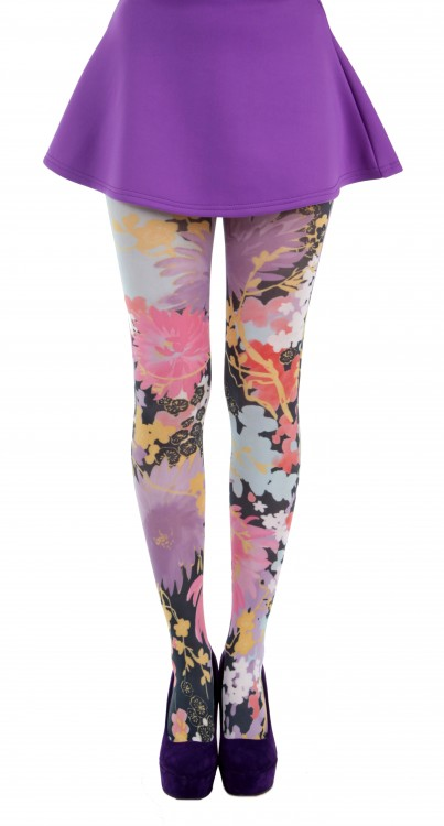 Freesia Floral Printed Tights