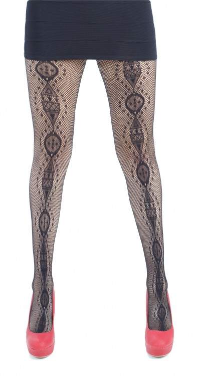 Front Totem Net Tights