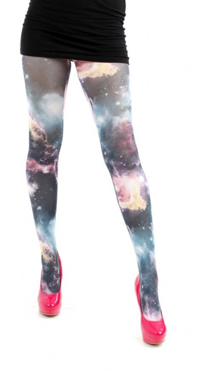 Galactic Sky Printed Tights (Multicoloured)- CLEARANCE