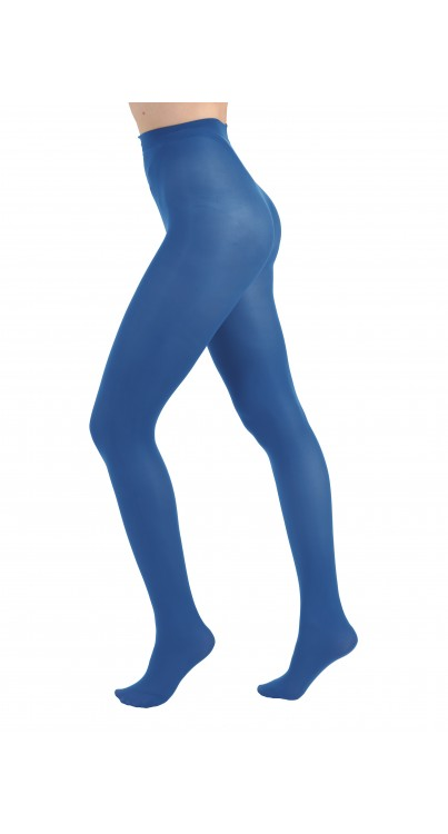 50 Denier Opaque Tights Colbalt Blue