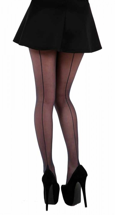 Jive Seamed Tights (Navy)