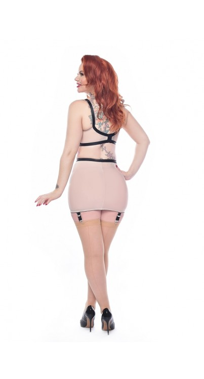 Jive Seamed Stockings (Nude/Nude)
