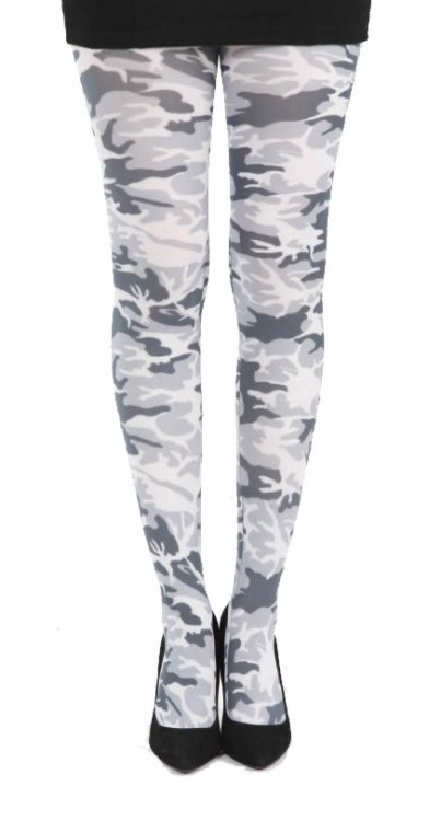 Military Printed Tights (Black/White)