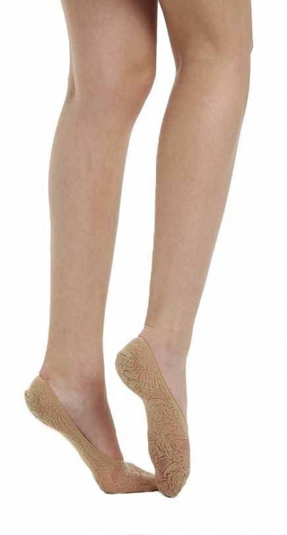 Lace Footlets (Nude)
