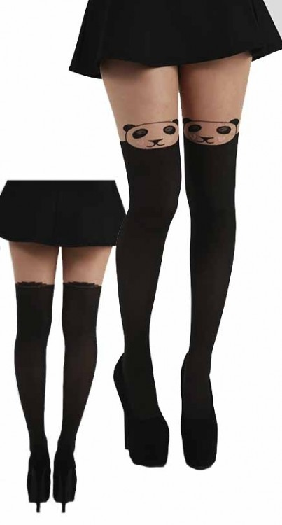 Over the knee panda tights