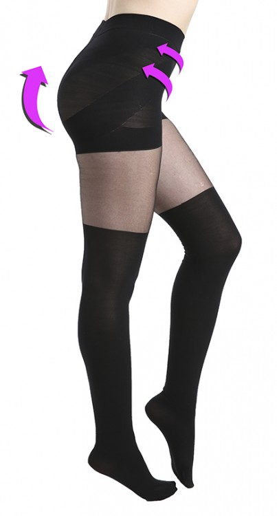Plain Over the Knee Smoothing Tights