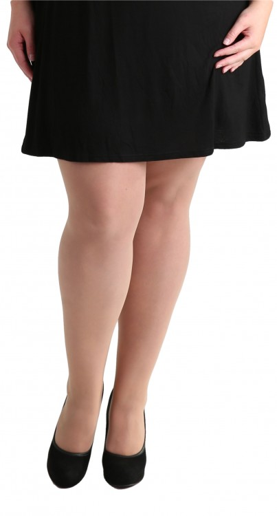 Plus SIze 15 Denier Sheer Tights (Nude)