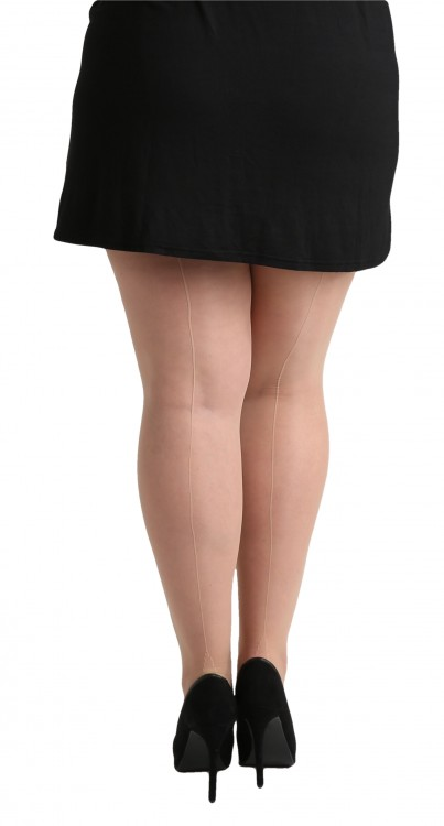 Plus Size Jive Seamed Tights (Nude/Nude)