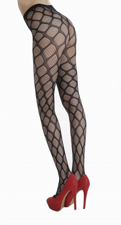 Pothole Style Tights (Black)
