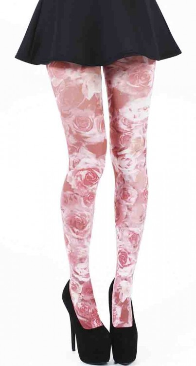 Roseflower Printed Tights