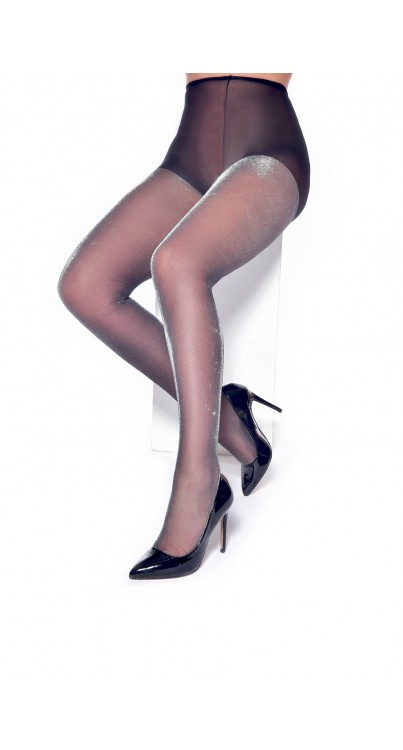 Silver Shimmer Tights (Silver)
