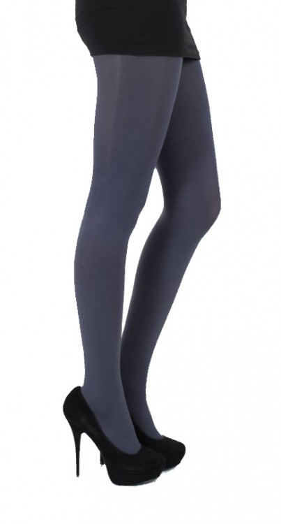120 denier 3D Opaque Tights (Slate)