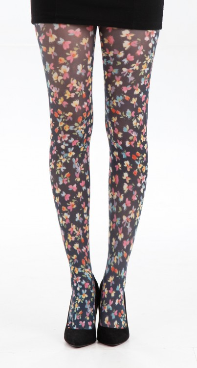 Small Ditsy Floral Printed Tights