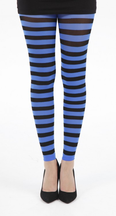 Twickers Footless Tights (Flo Blue)