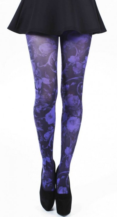 Twilight Printed Tights (Flo Purple)