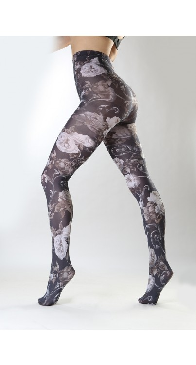 Twilight Printed Tights (Black/White)