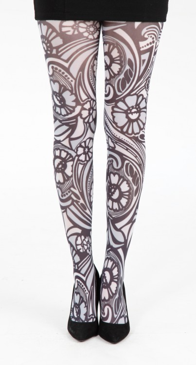 Varrick Printed Tights (Black/White)