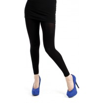 200 Denier Footless Tights (Black)