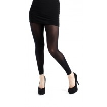 40 Denier Velvet Footless Tights Black