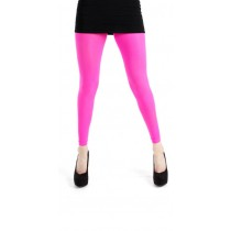 50 denier footless tights flo pink