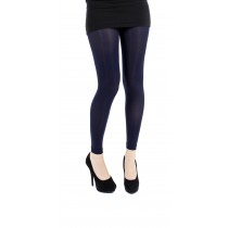 Navy 50 Denier Footless Tights