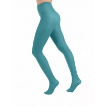 50 Denier Aqua Green Tights