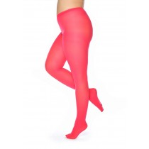 50 Denier Curvy Super Stretch Tights Coral