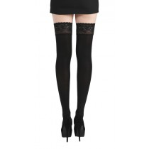 50 Denier Lace Top Hold Up Stockings