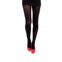 50 Denier Tights with Diamante Stud